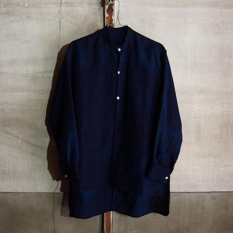 NORA SHIRT~vintage indigo cotton/linen~