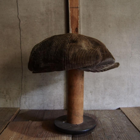 FRENCH VINTAGE CORD CAP ~type newsboy~60