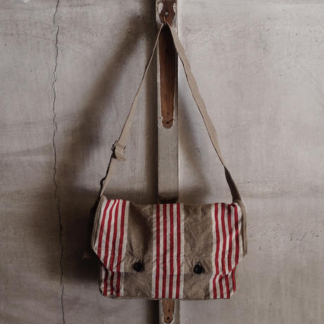 FRENCH VINTAGE  LINEN BAG ~type bread~②