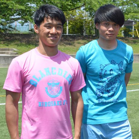 Tシャツ(ピンク×ブルー)