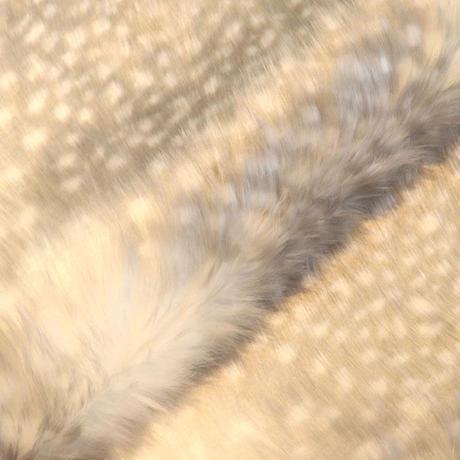 アクリルモヘア(岡田織物)白ふくろう柄 130cmx100cm