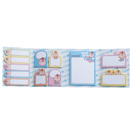 パタパタ付箋メモ&B6Wリングノート&下敷き(3点セット) 【KMTG-053】