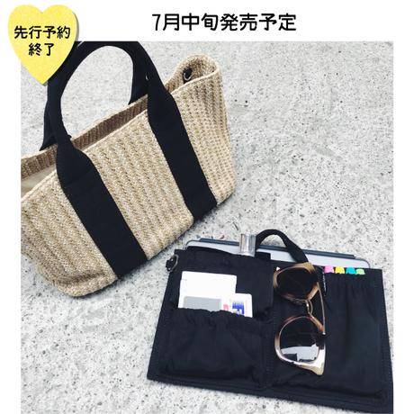 【7月中旬発売予定】バッグINバッグ付きカゴバッグ【KMT-309BK】