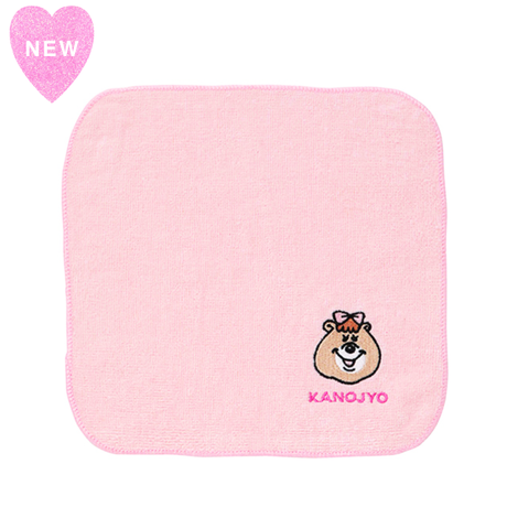 クマタンの彼女 刺繍ハンカチタオル【KMT-344PK】
