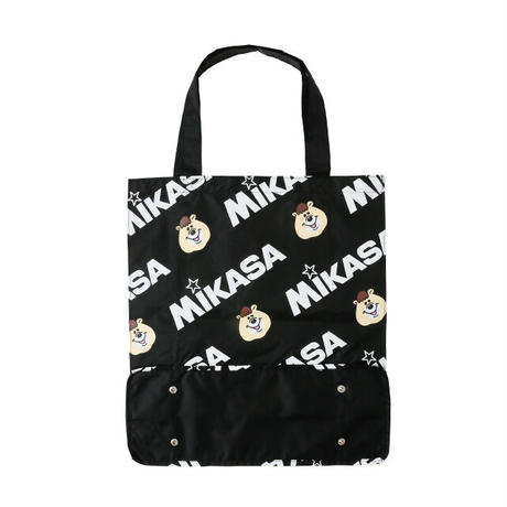 MIKASA&KUMATAN総柄レジャーバッグ【KMT-438BK】