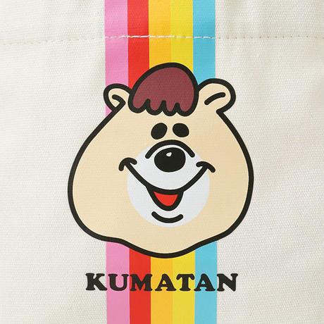 クマタン  レインボーランチトートバッグ【KMT-361WH】