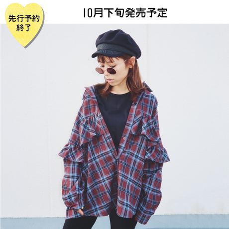 【10月下旬発売予定】フリルチェックネルチュニック【KMT-384BN】