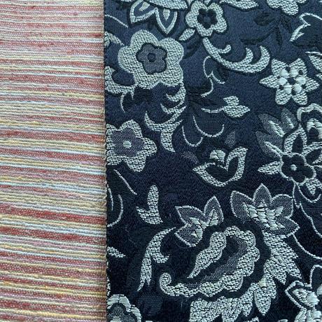 【半幅帯SALE】創作帯いまむら リバーシブル更紗柄 半幅帯 黒