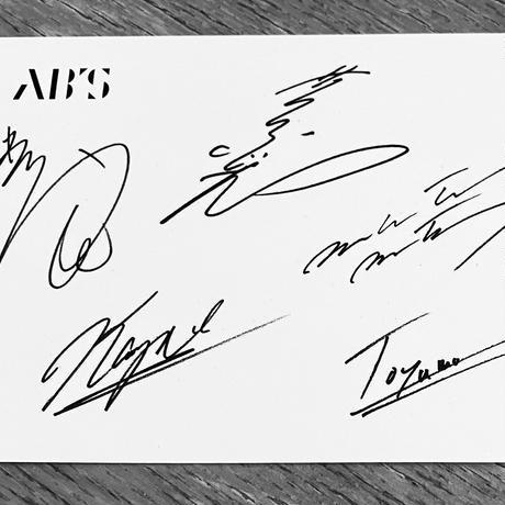 AB'S-7 オリジナルピック2セット サイン入りポストカード付き