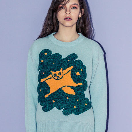 モモンガのセーター(light blue)