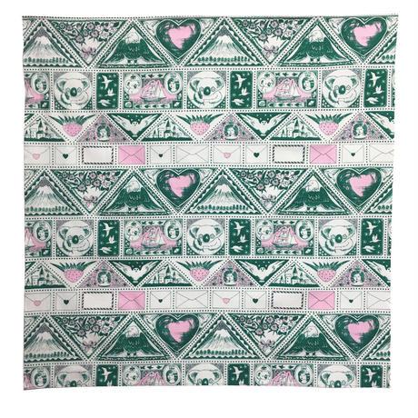 切手シートのプリント風呂敷