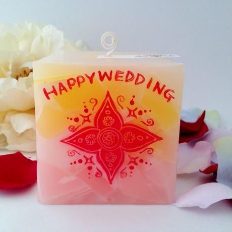 結婚祝いプレゼントキャンドル(ラッピング付き)