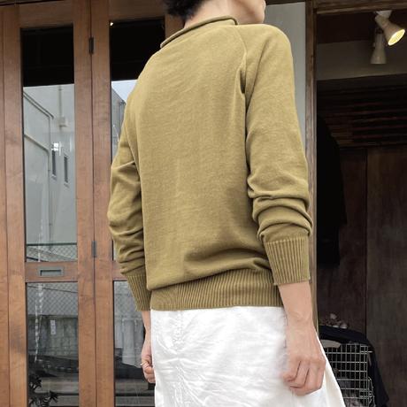 ショートタートル 長袖 裾リブ
