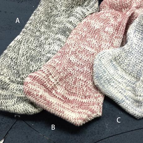 ゴムを使わない手編みのようなくつ下 〜  24 cm