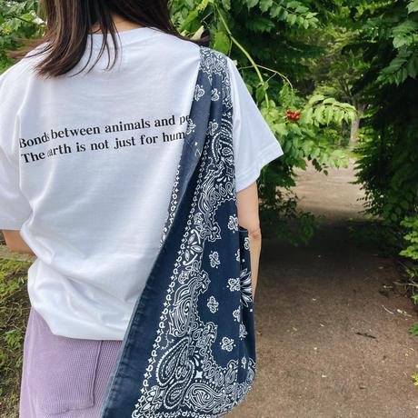 チャリティーtシャツCAT ホワイト