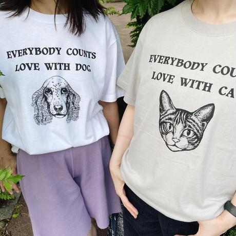 チャリティーtシャツCAT キッズホワイト