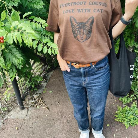 チャリティーtシャツDOG ブラウン