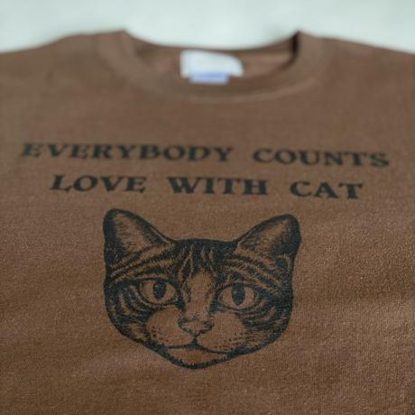 チャリティーtシャツCAT ブラウン