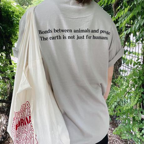 チャリティーtシャツDOG ライトグレー