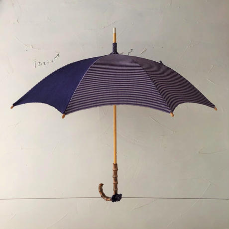 会津木綿日傘#15