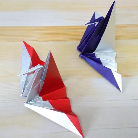 銀箔両面和紙折紙 M600-41 18㎝