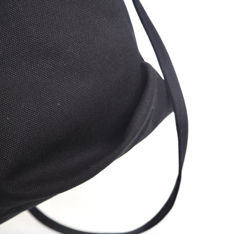 Densho バケツ型バッグ /黒帆布 /再販可