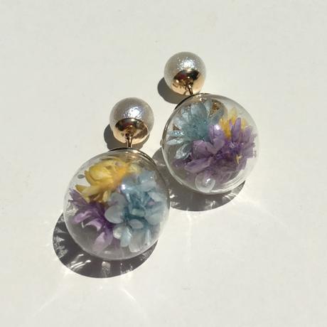 ガラスドーム【青・紫・黄】