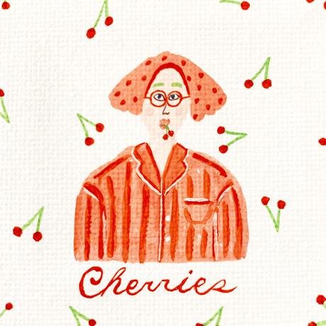 Cherries ミニキャンバス原画 3