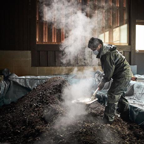 「黒川温泉一帯地域コンポストプロジェクト」で作成した培養土