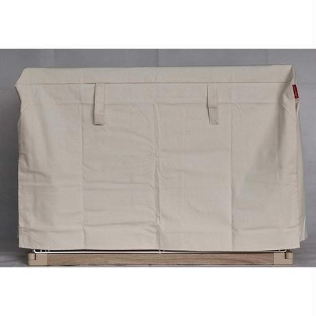 Cocoheart ケージカバー日本製(縫製・帆布/綿100%)(横幅100cmX奥行き70cmX高さ60cm) 1段ケージ用 Aタイプ, オフホワイト