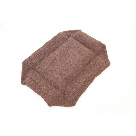 Cocoheart ペットカート用 (キャリーバッグにもOK)クッションベット・リバーシブル 安心の日本縫製 (ペットカート用, ブラウン×キャンバス)