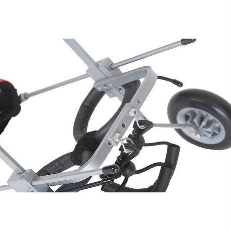 COCOHEART/ワンちゃん/ネコちゃん/車いす/後肢サポート/組立完成品 (XS型・2.5kg-7.5kg・胴幅17.5cm-20.5cm・胴体中間までの高さ17cm-30cm)