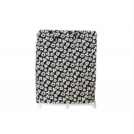 Cocoheart ケージカバー日本製(縫製・帆布/綿100%)(横幅95cmX奥行き70cmX高さ110cm) (2段ケージ用 Bタイプ, フラワーブラック)