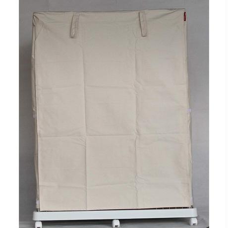 Cocoheart ケージカバー日本製(縫製・帆布/綿100%)(横幅85cmX奥行き60cmX高さ180cm) 3段ケージ用 Aタイプ, オフホワイト