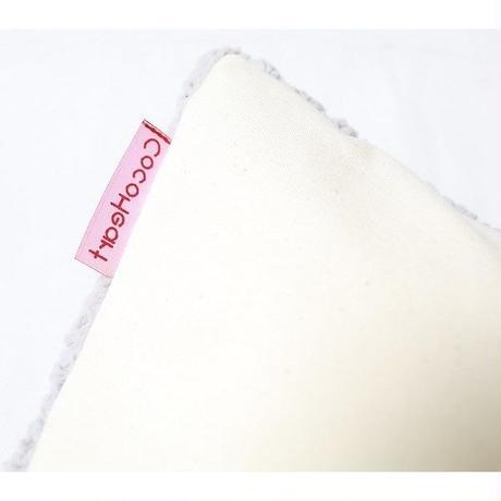Cocoheart ココハート  ふみふみクッション  グレーSサイズ    シープボア×帆布(キャンバス)