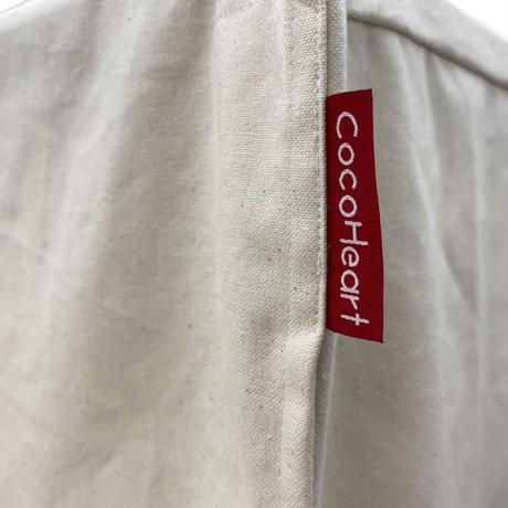 1段ケージ用 Dタイプ 横幅100cmX奥行き70cmX高さ60cm Cocoheart ケージカバー(縫製・帆布/綿100%) オフホワイト(生成り色)