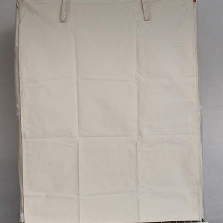 Cocoheart ケージカバー日本製(縫製・帆布/綿100%)(横幅85cmX奥行き60cmX高さ110cm) (2段ケージ用 Aタイプ, オフホワイト キナリ)