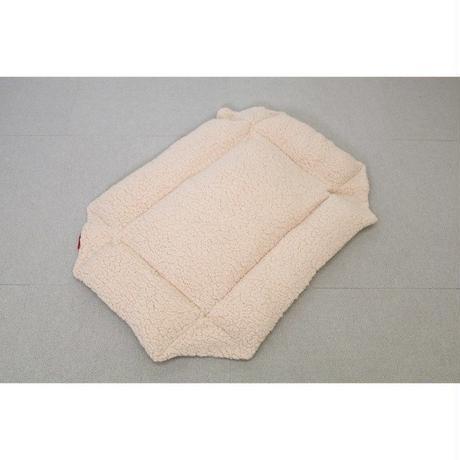 Cocoheart ペットカート用 (キャリーバッグにもOK)クッションベット・リバーシブル 安心の日本縫製 (ペットカート用, アイボリー×キャンバス)