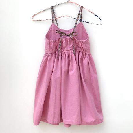 【used約100-130cm】pink×flower onepiece