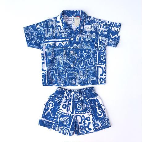 【vintage約80-90cm】象形文字blue setup