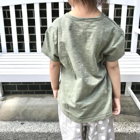 【110cm-130cm】スラブカーキTシャツ