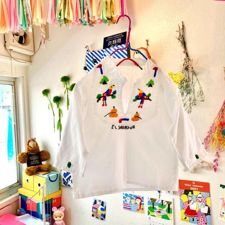 【vintage約100-110cm】ELSALVADOR blouse