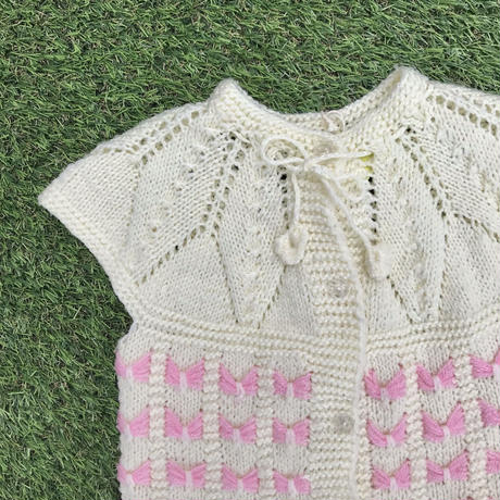 *JurianKinder*pink ribbon knit vest