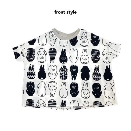 【120-130cm】PYMON だるまうさぎワイドTシャツ