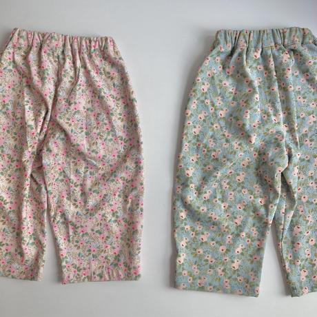 【90-130㎝】corduroy flower pants