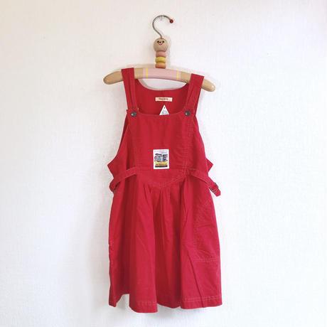 【used120cm】真っ赤なジャンパースカート