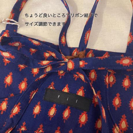 fil【80〜100cm】インドコットンサロペット