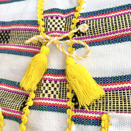 【vintage約120-140cm】 異国の織りベスト