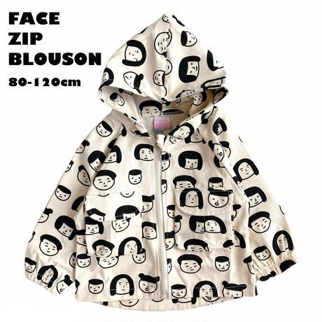【80-120㎝】FACE ZIP BLOUSON