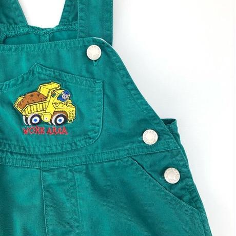 【vintage約90cm】green short overall